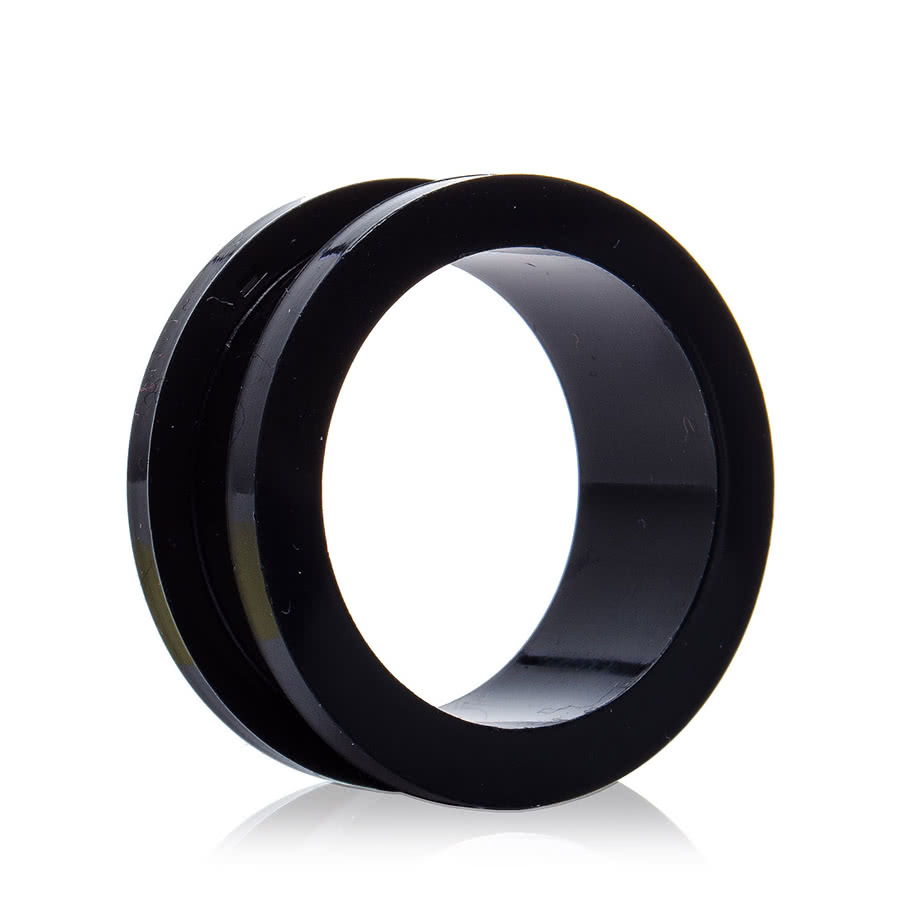 Blue Banana Acrylic Black Flesh Tunnel (2 - 10mm)