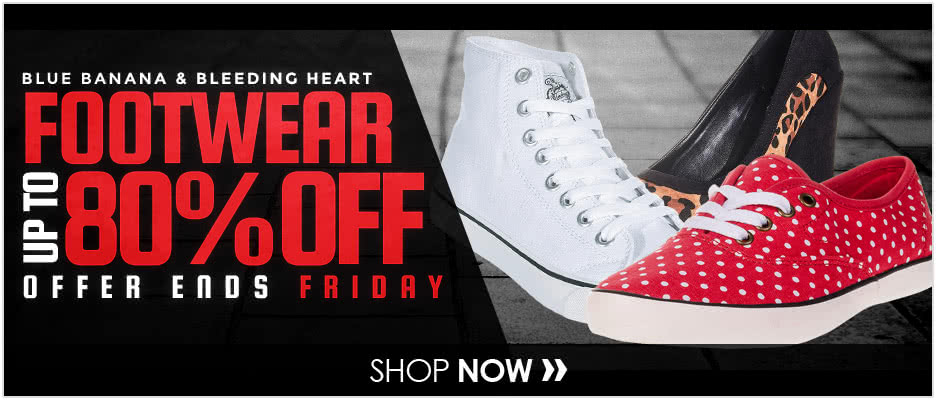 Blue Banana & Bleeding Heart Footwear up to 80% OFF