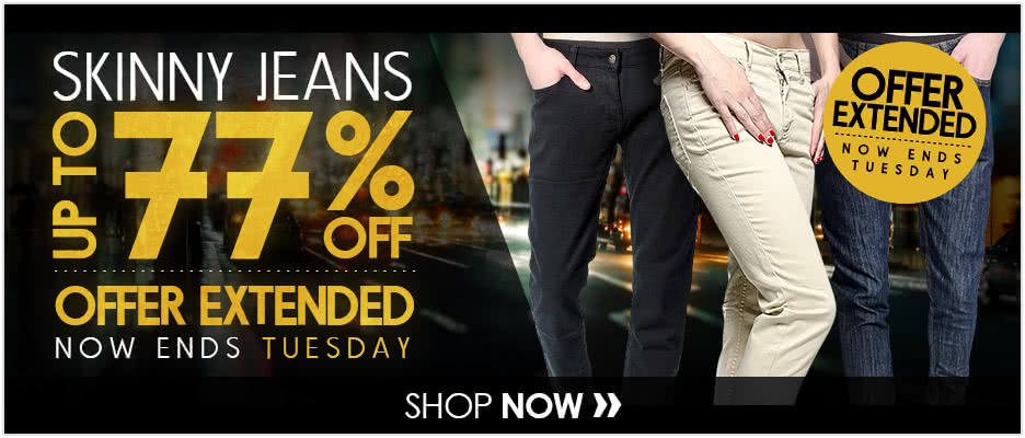 Skinny Jeans up to 77% OFF Extended Offer