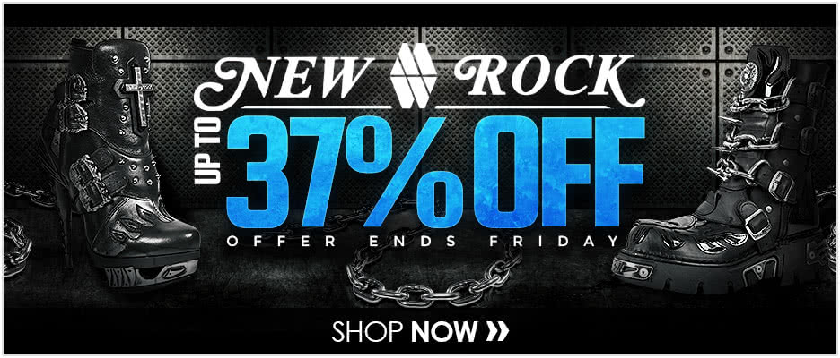 New Rock Boots up to 37% OFF