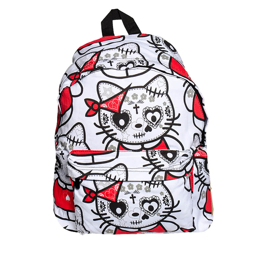 Bleeding Heart Kat Backpack (White)