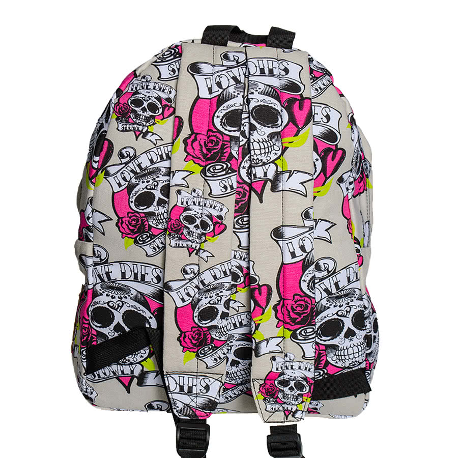 Bleeding Heart Love Dies Backpack (Cream)