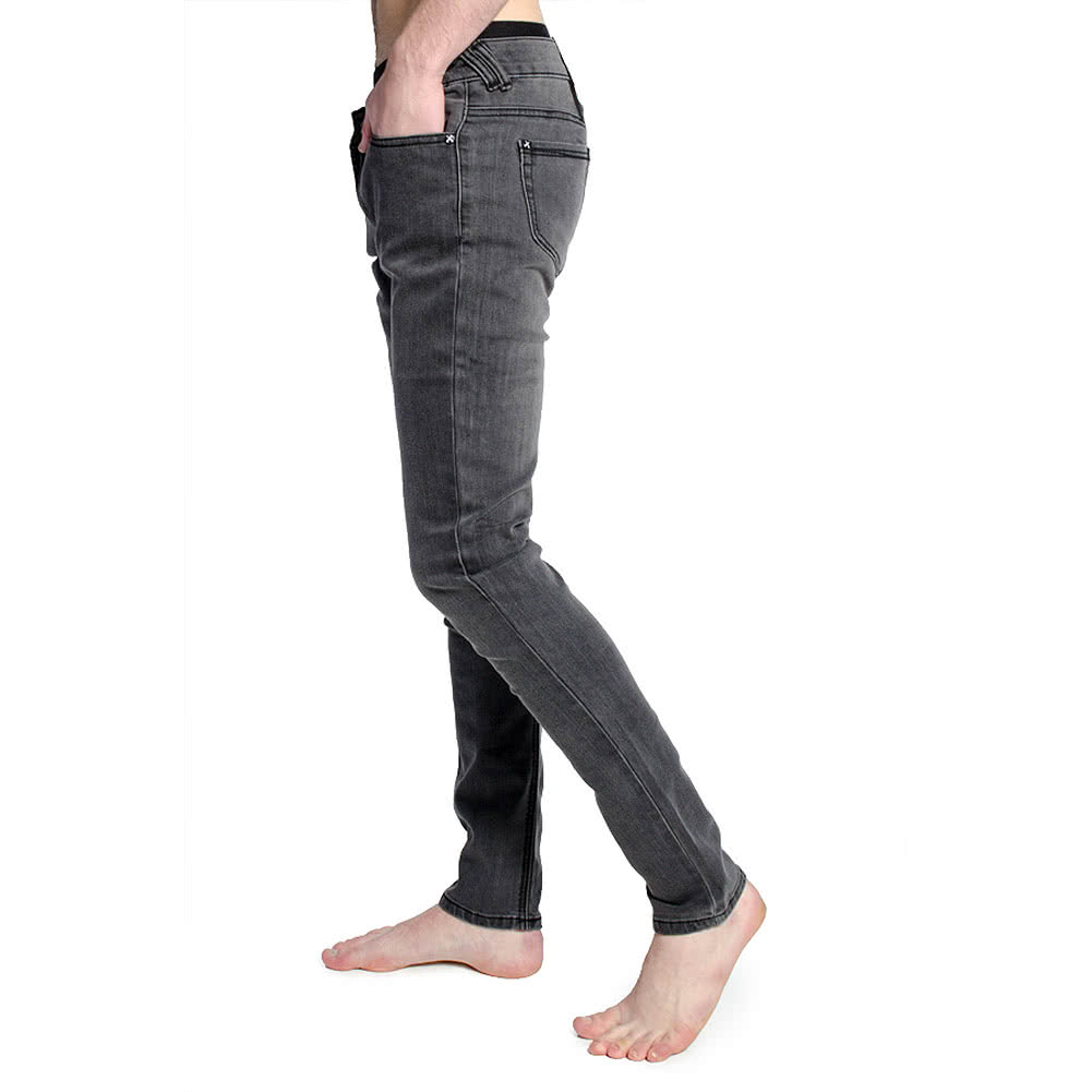 Criminal Damage Men's Skinny Fit Jeans (Snow Wash Grey)