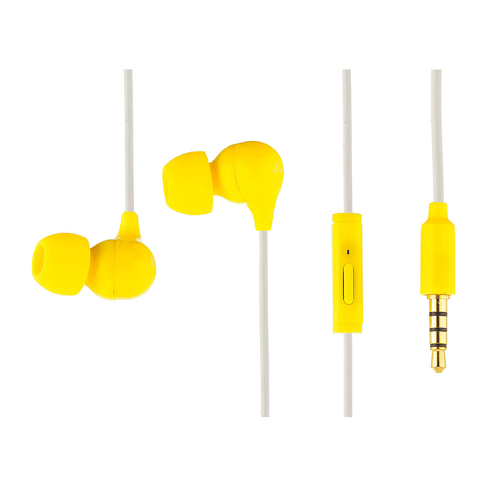 Juicy Electronics Juice Box Banana Scented Earphones (Yellow)