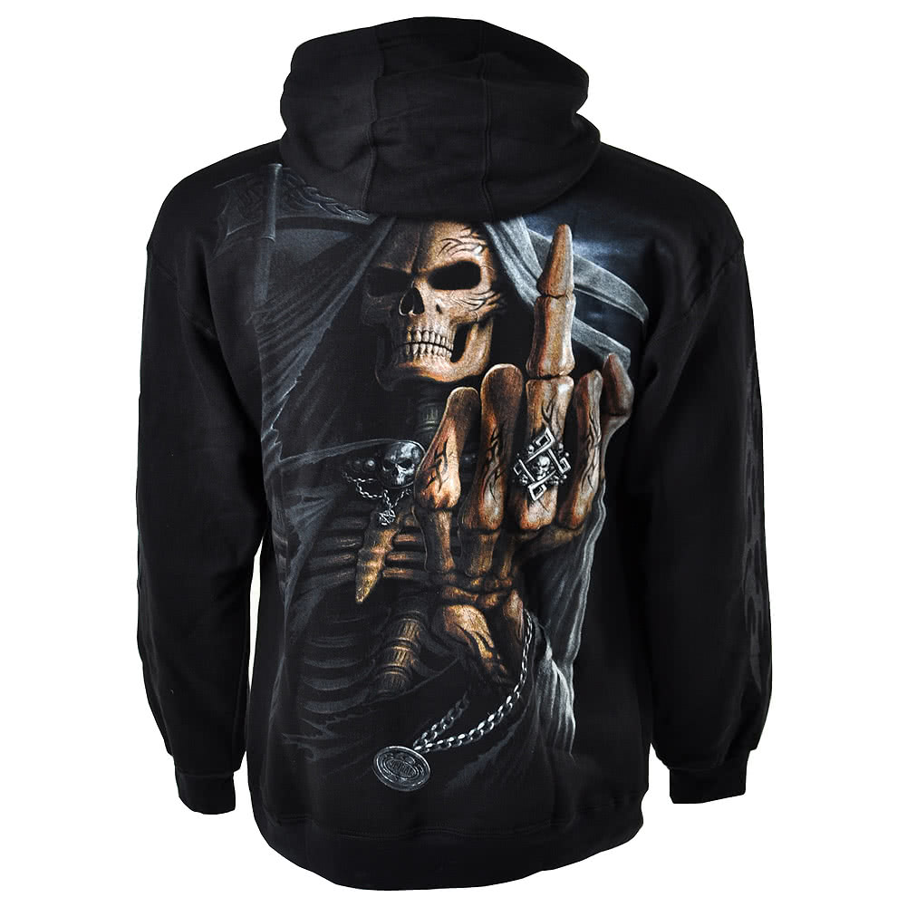 Spiral Direct Bone Finger Hoodie (Black)