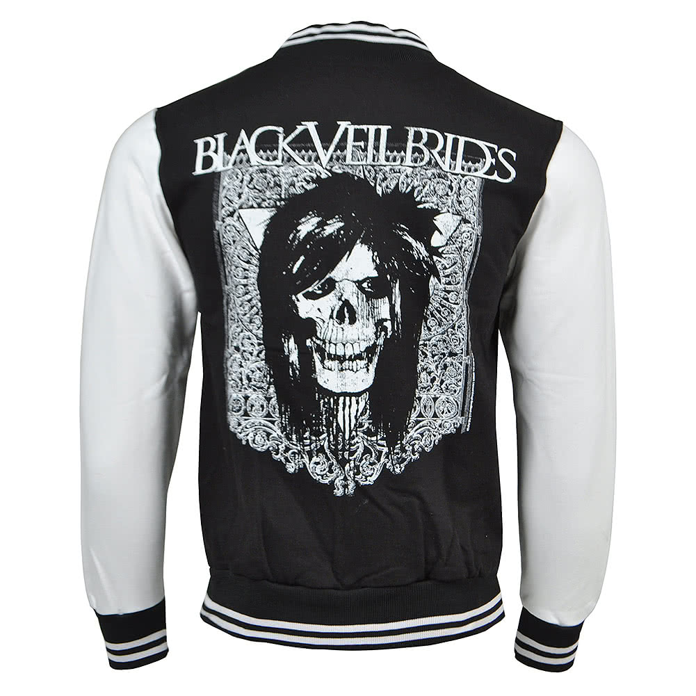 Black Veil Brides Gate Varsity Jacket (Black/White)