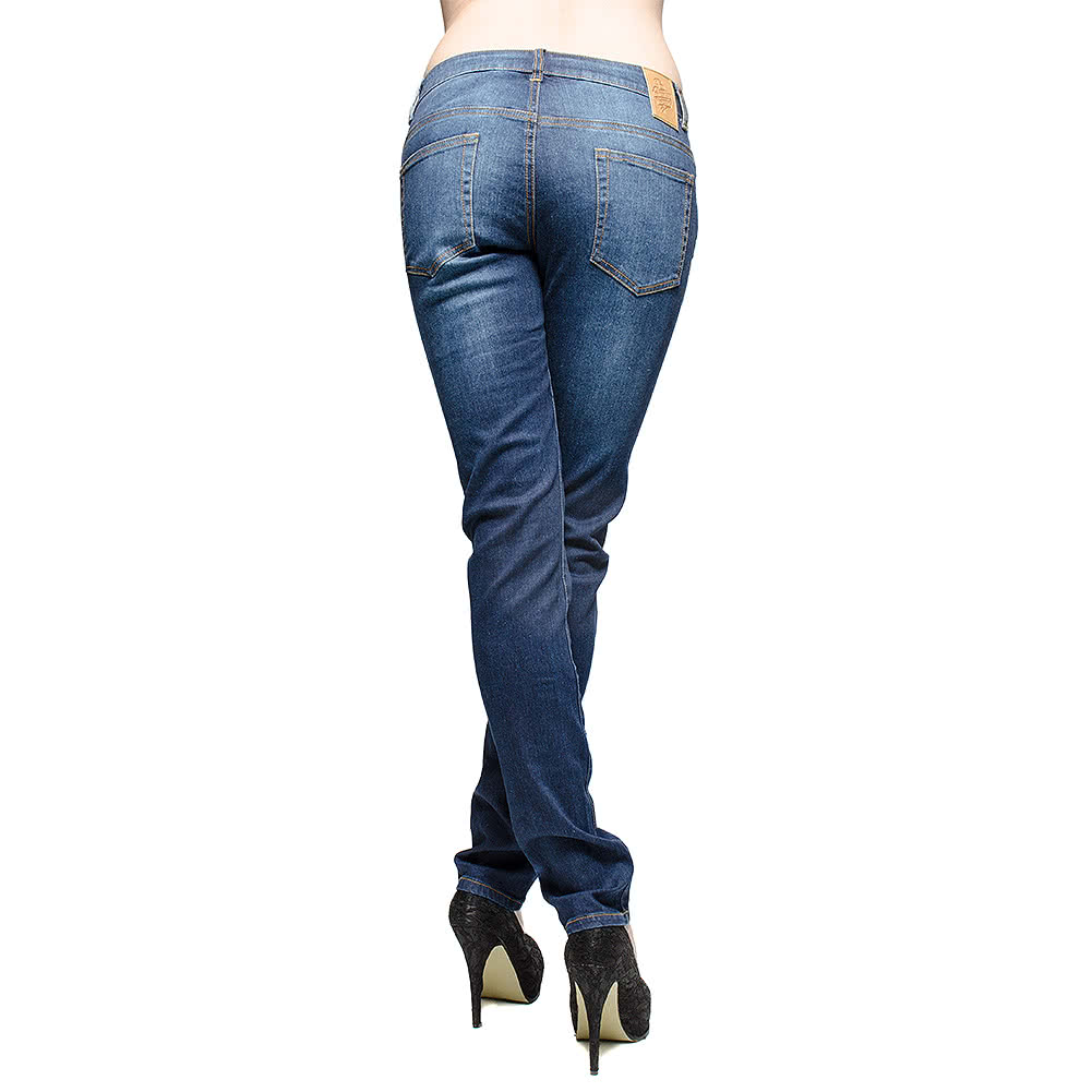 Bleeding Heart Stonewash Skinny Fit Jeans (Blue)