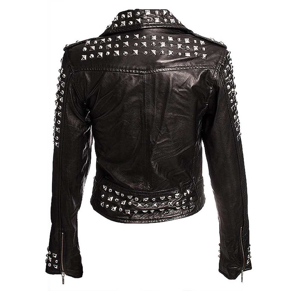 Killstar Studded Leather Jacket (Black)