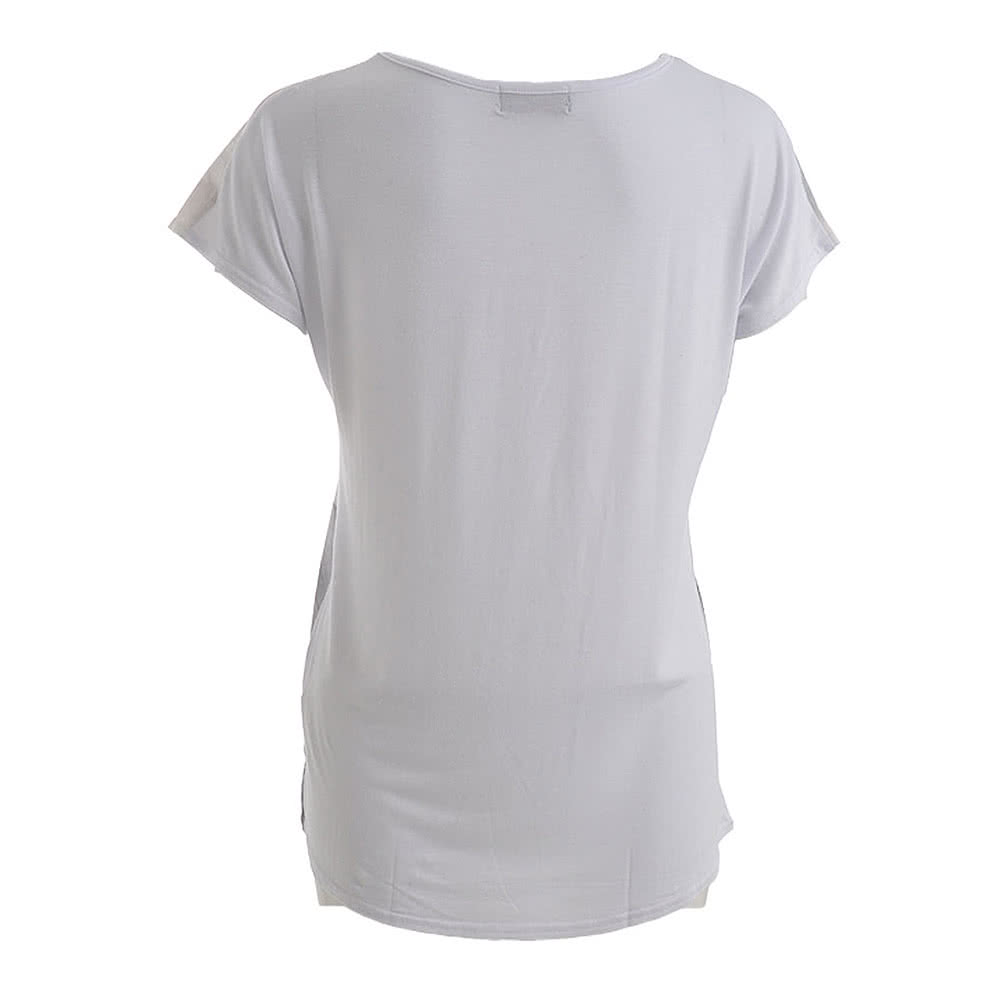 Spiral Direct Angel Doves Loose Fit T Shirt (White)