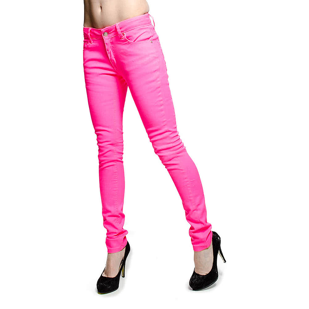 Bleeding Heart Ultra Skinny Jeans (UV Pink)