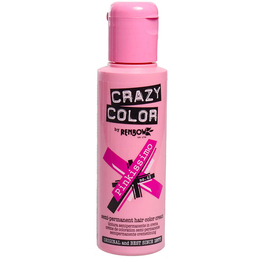 Crazy Color Semi-Permanent Hair Dye 100ml (Pinkissimo)