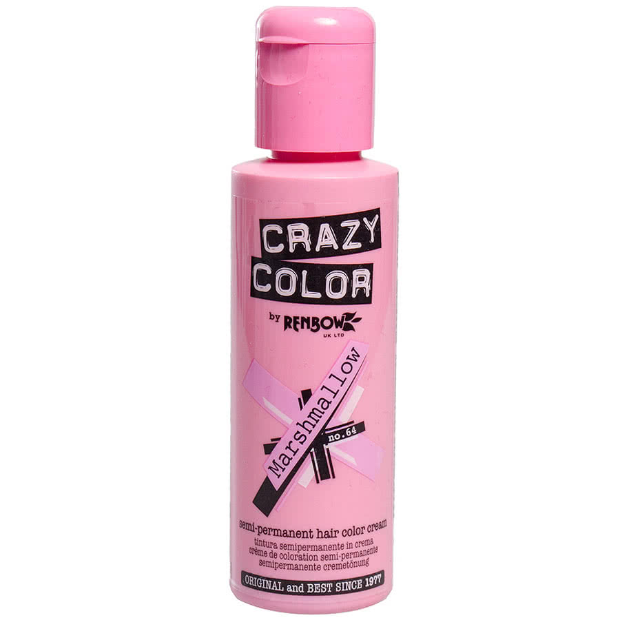 Crazy Color Semi-Permanent Hair Dye 100ml (Marshmallow Pink)