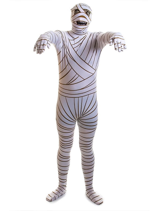 Rubies 2nd Skin Mummy Jumpsuit (White)