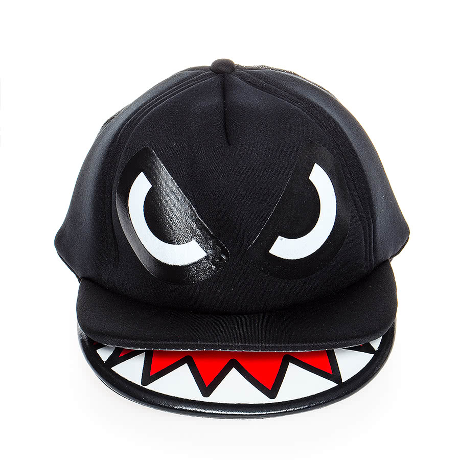 Blue Banana Monster Hat (Black)