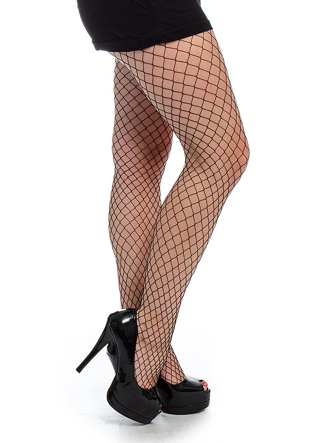 Blue Banana Large Fishnet Tights (Black)