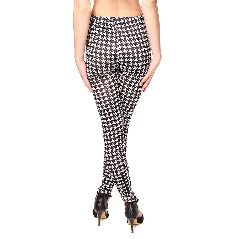 Blue Banana Hounds Tooth Leggings (Black/White)