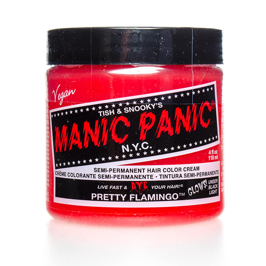 Manic Panic Classic Semi-Permanent UV Glow Hair Dye 118ml (Pretty Flamingo)