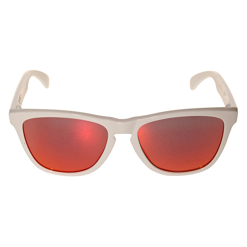 Oakley Frogskins Sunglasses (Polished White/Ruby Iridium)