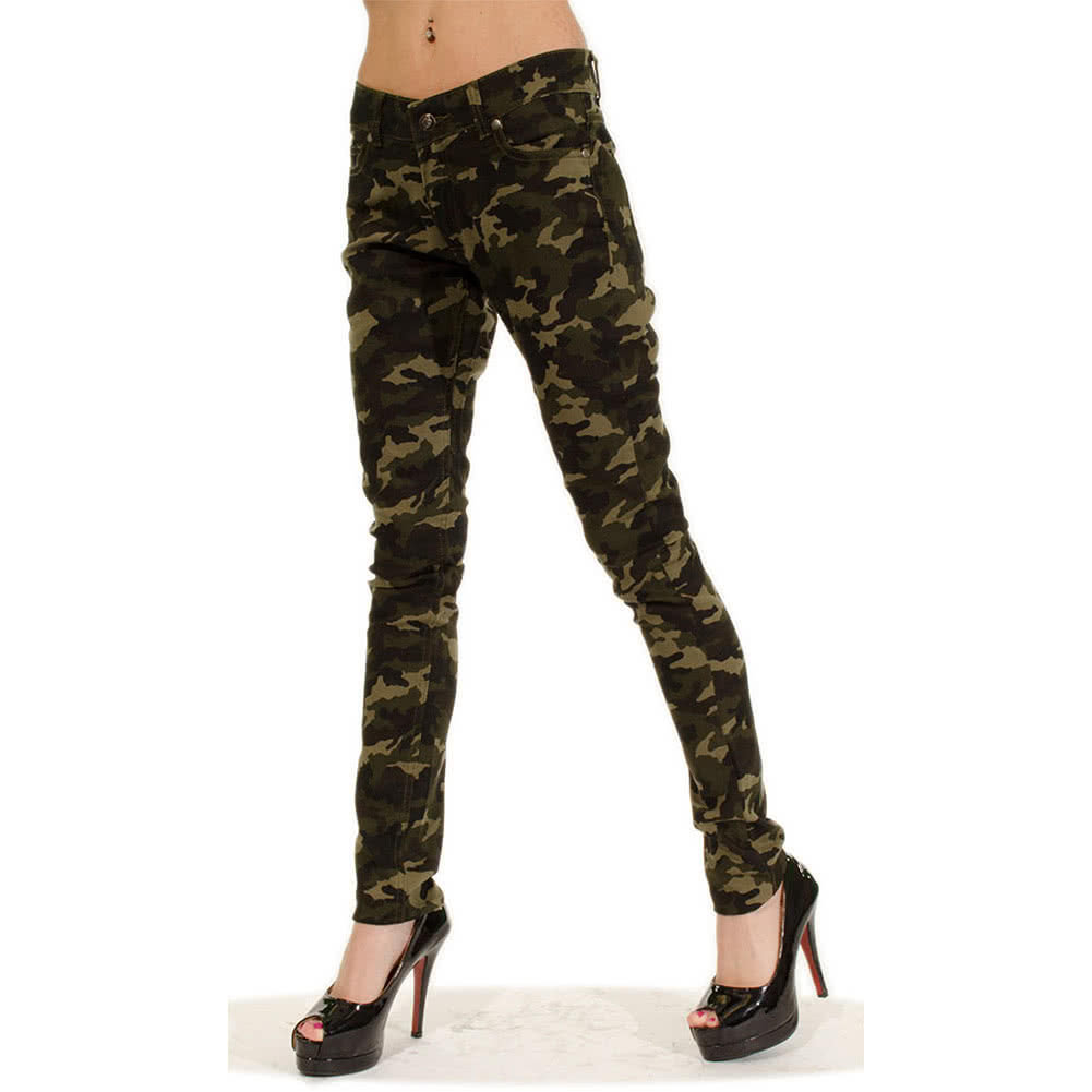 Bleeding Heart Ultra Skinny Fit Camo Jeans (Green)