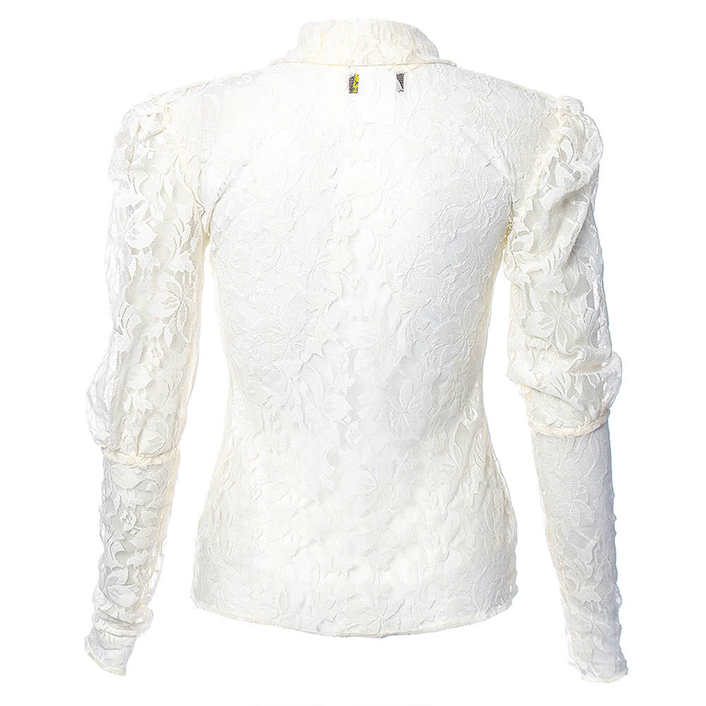 Steampunk Cameo Goth Blouse (Cream)