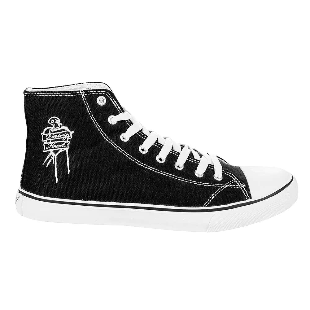 Bleeding Heart Logo Canvas Hi Tops (Black)