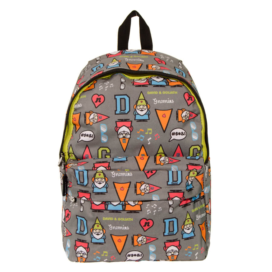 David & Goliath Gnomies Backpack (Grey)