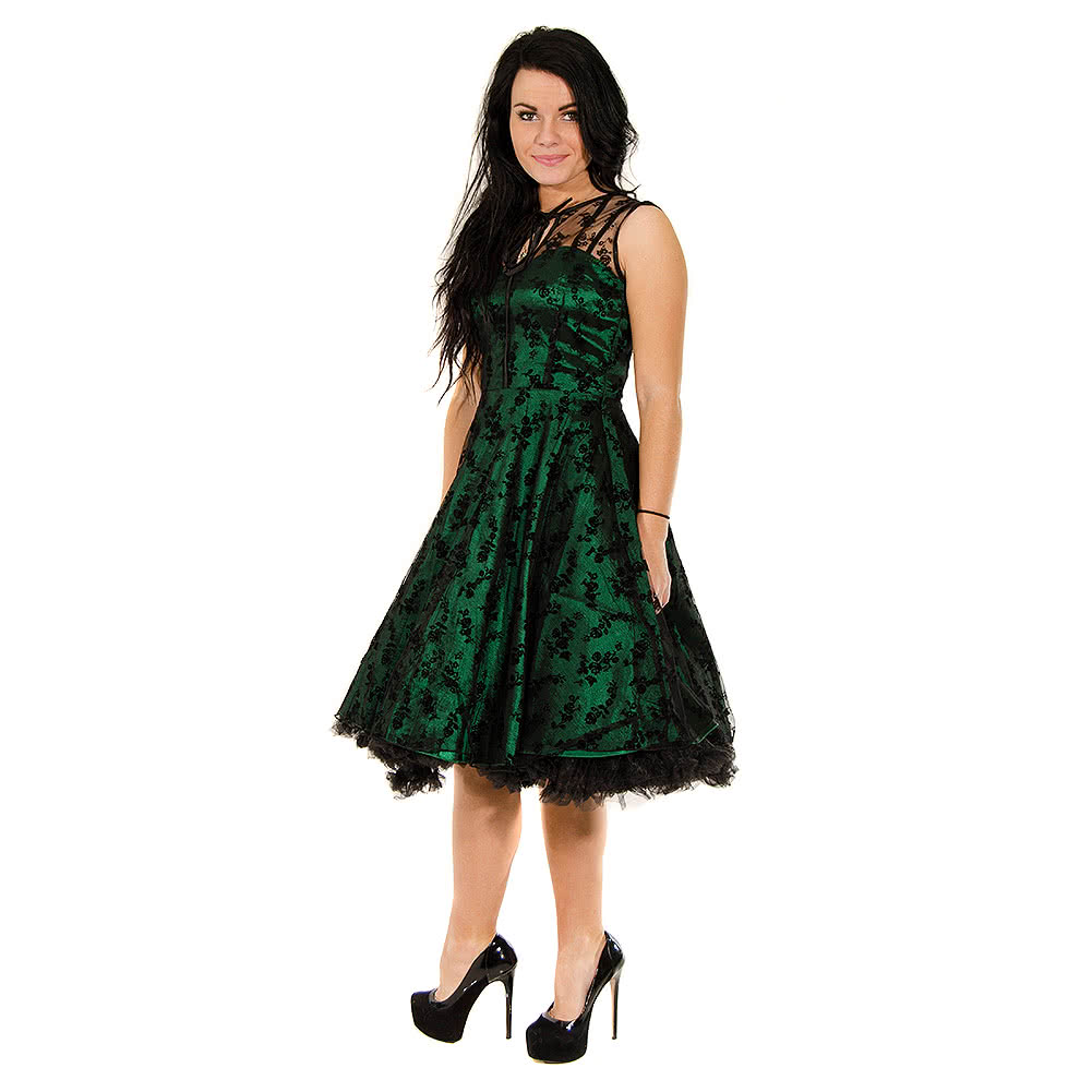 Voodoo Vixen Taffeta Lace Dress (Green)