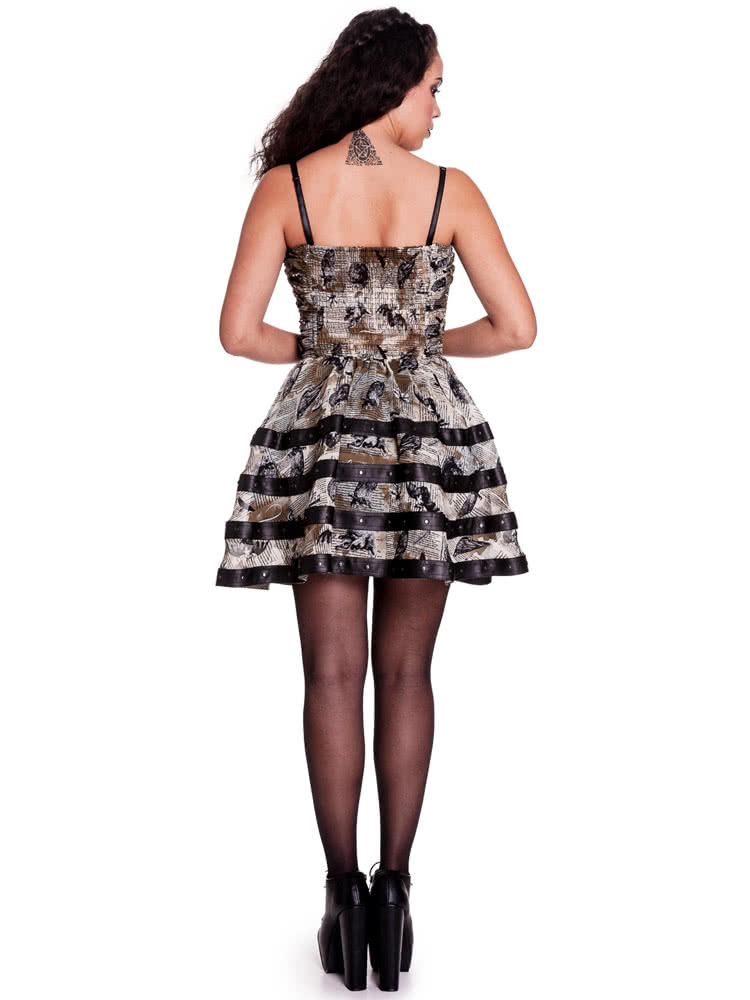 Spin Doctor Luna Mini Dress (Black/Brown)