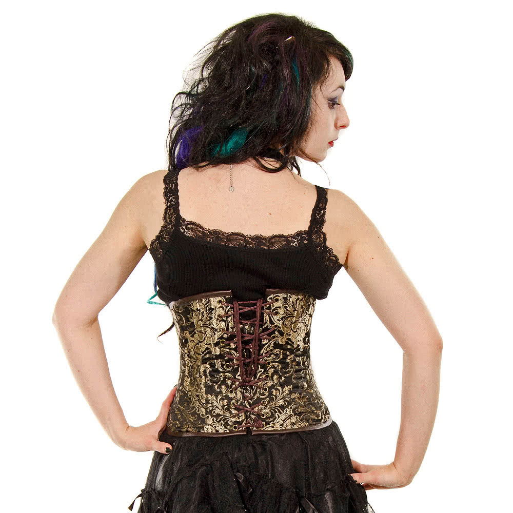 Burleska Kings Gold C-Lock Underbust Corset (Black/Gold)