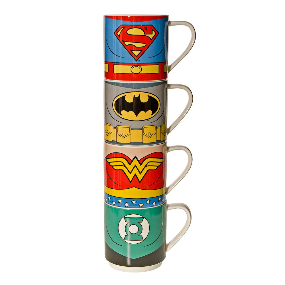 DC Comics Justice League 4 Pack Mug Set (Multi-Coloured)