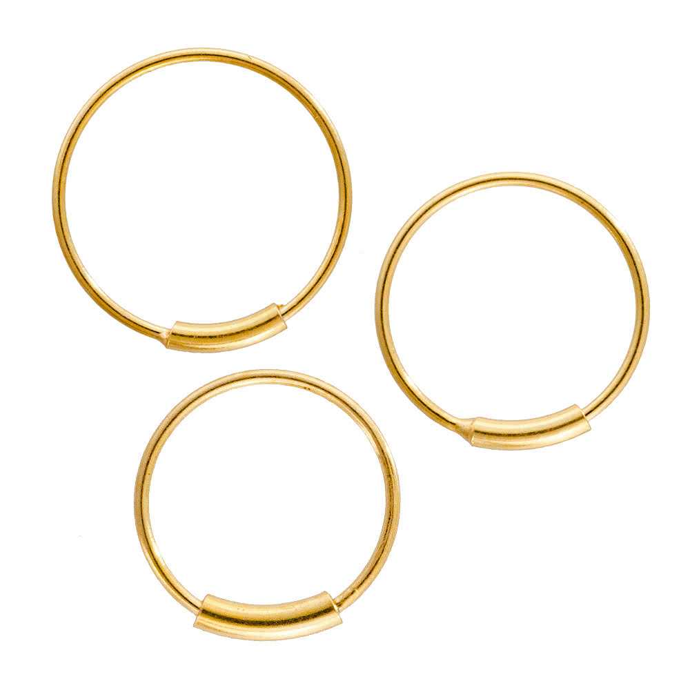 Blue Banana Cylinder Closure Hoop (Gold Plated)