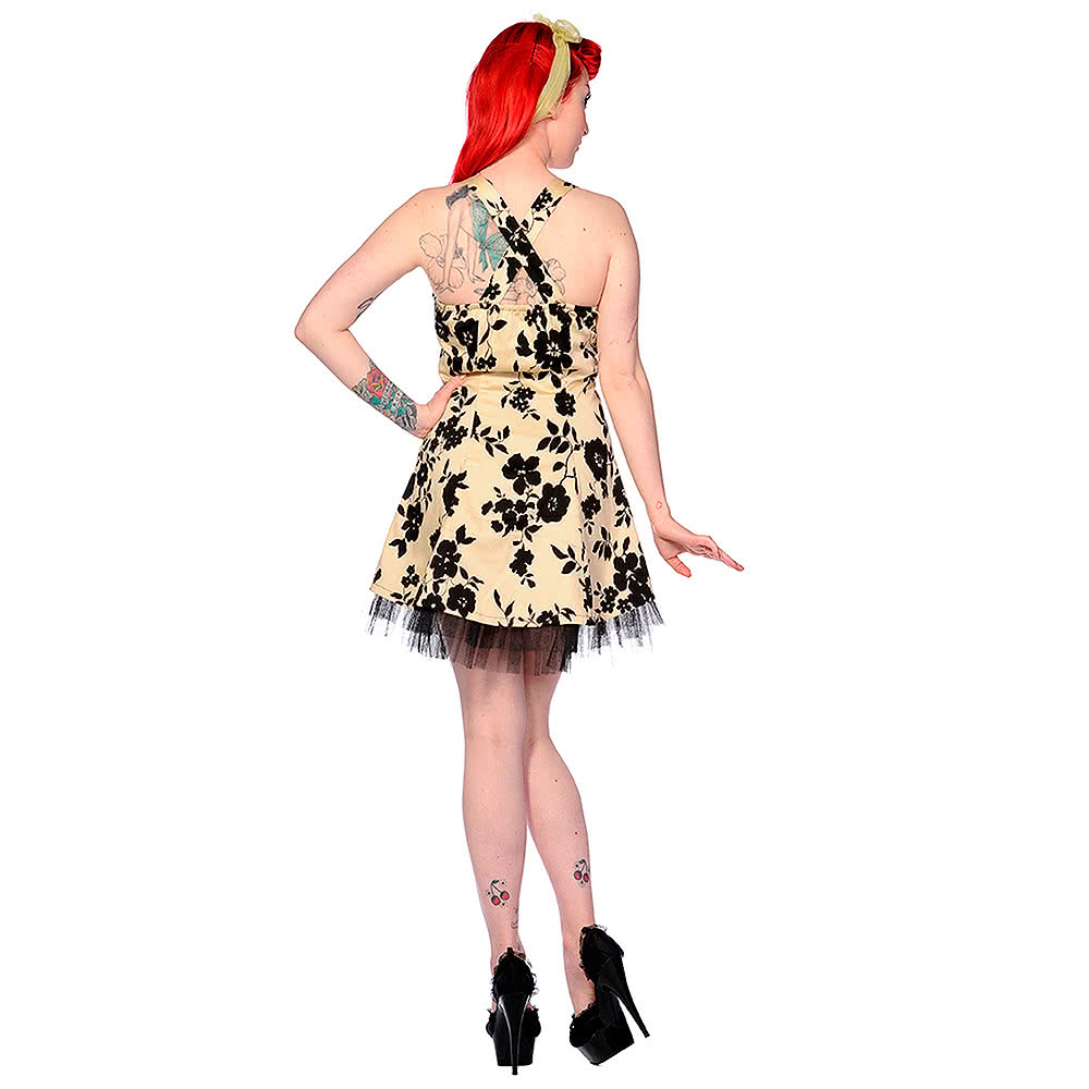 Banned Flowers Dress (Cream/Black)