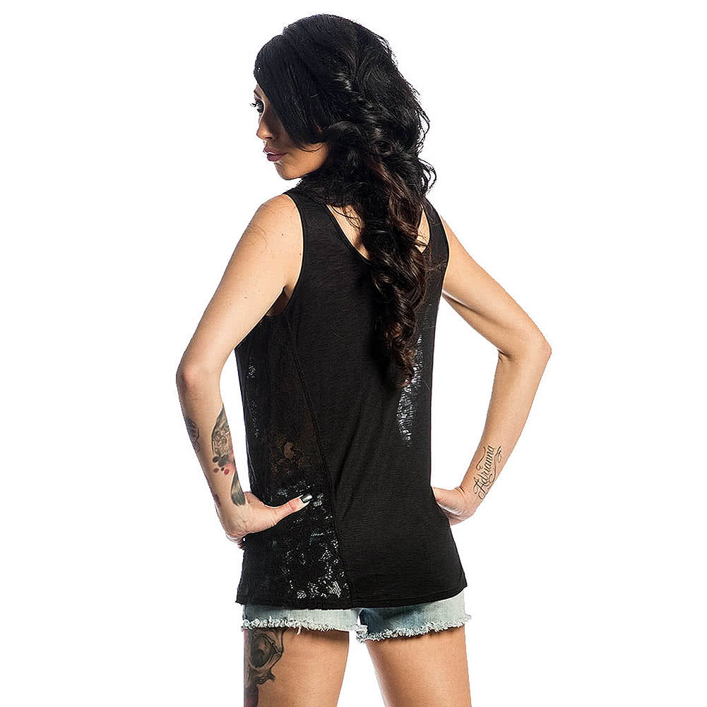 Sullen Angels Hear No Evil Vest Top (Black)