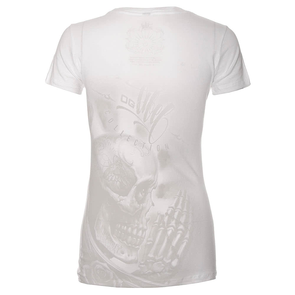 OG Abel Prayskull Skinny Fit T Shirt (White)