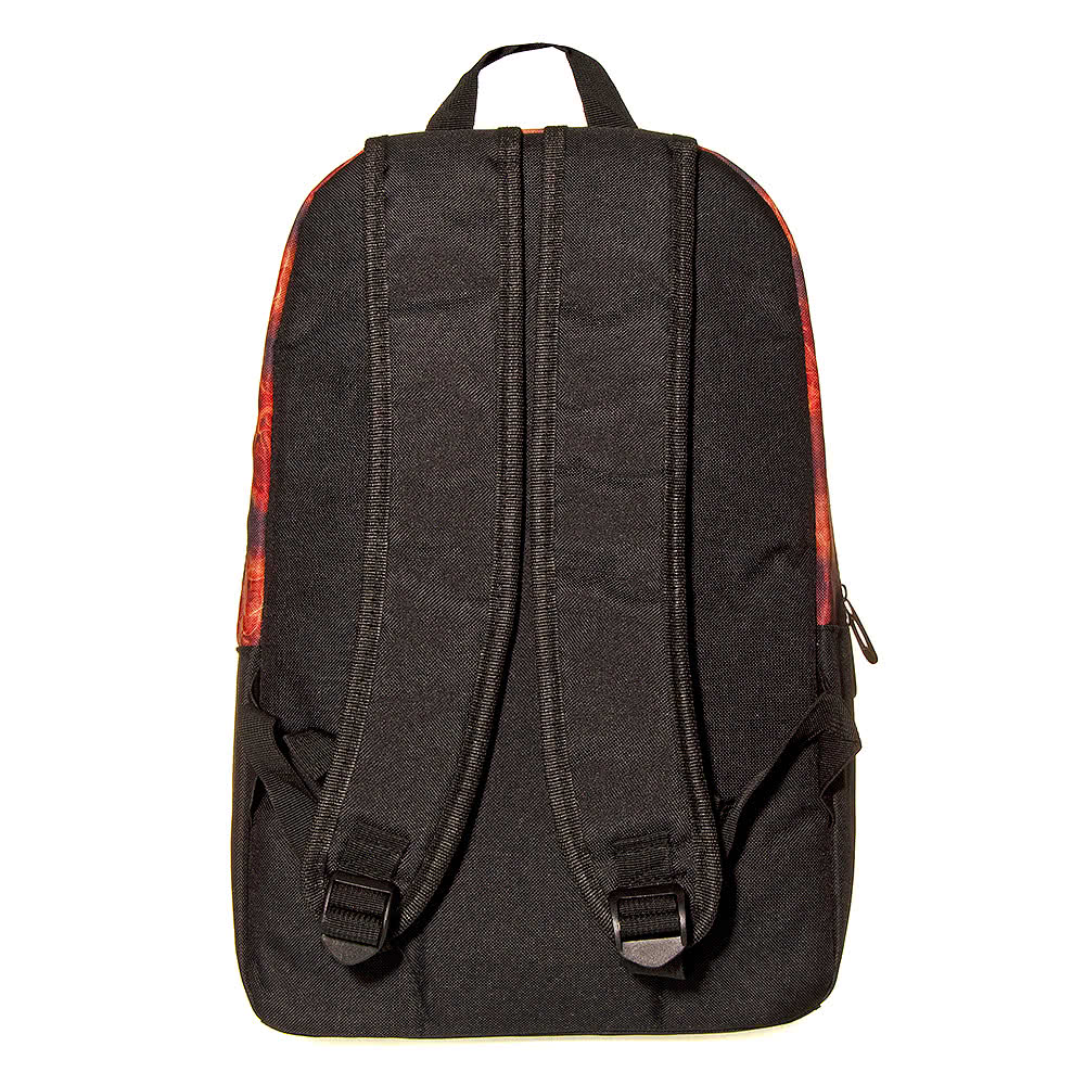 Blue Banana Flaming Drummer Backpack (Black)