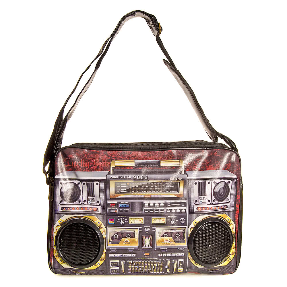 Blue Banana Speakers Messenger Bag