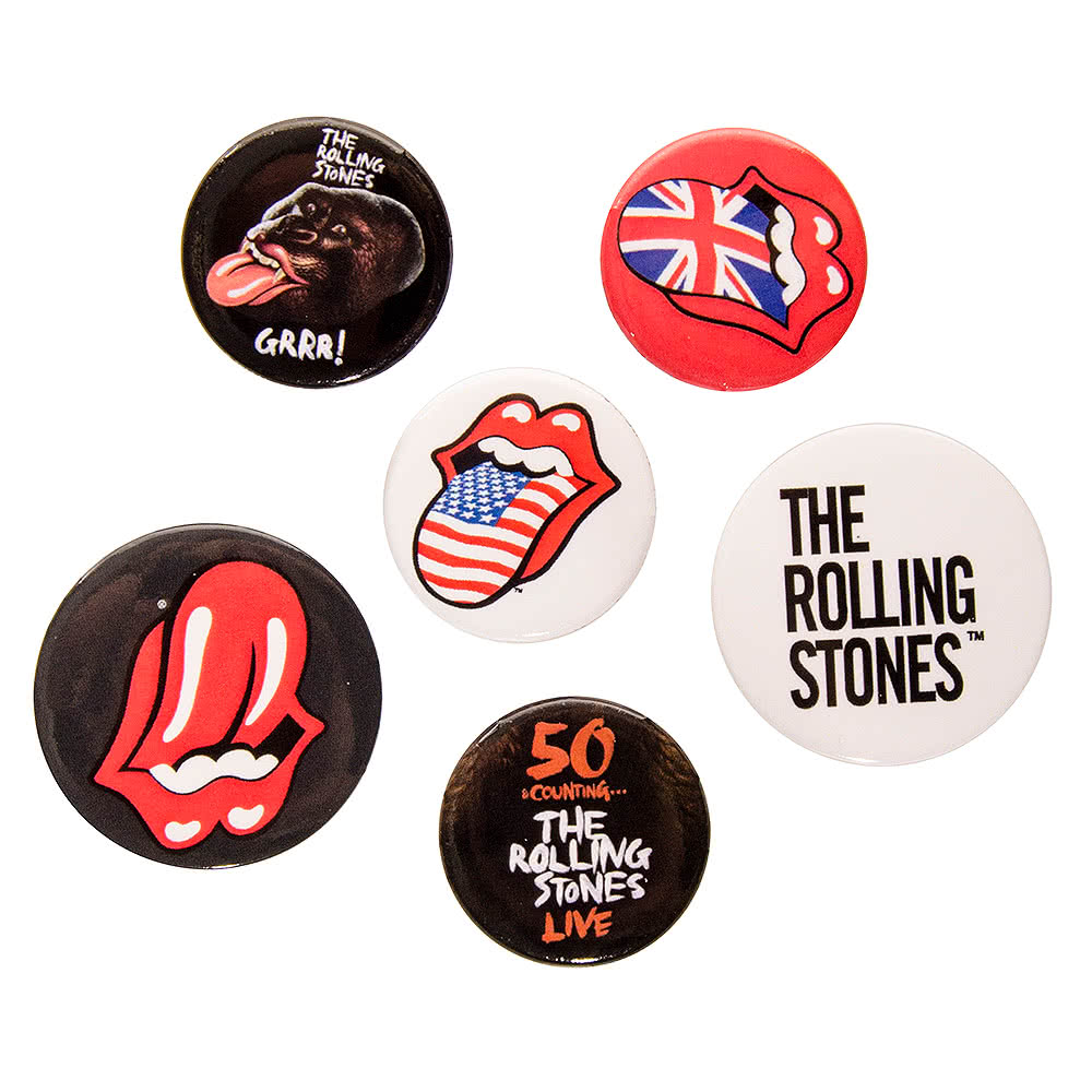 Rolling Stones Lips Badge Set