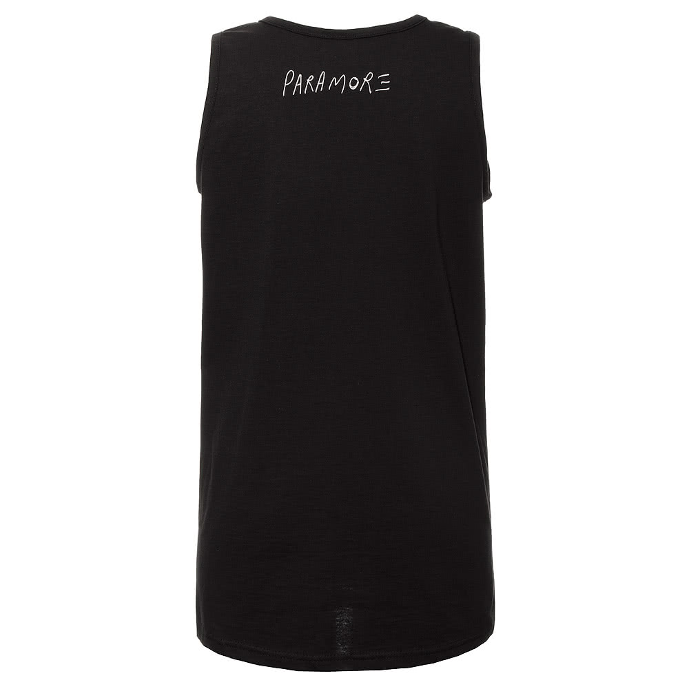 Paramore Stamp Bars Vest Top (Black)