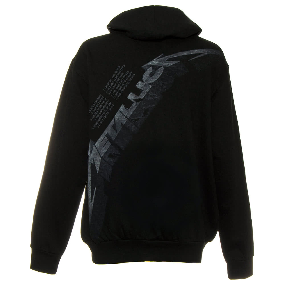 Metallica Black Album Zip Up Hoodie (Black)