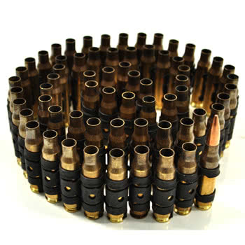 Half Bullet Belt Real Brass