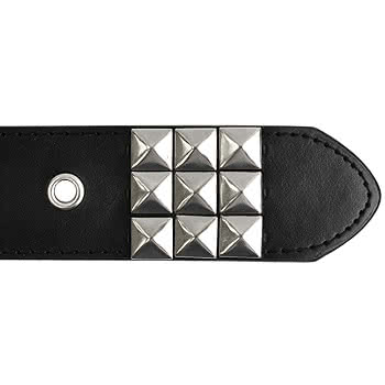 Blue Banana Classic 3 Row Studded Belt (Black/Silver)