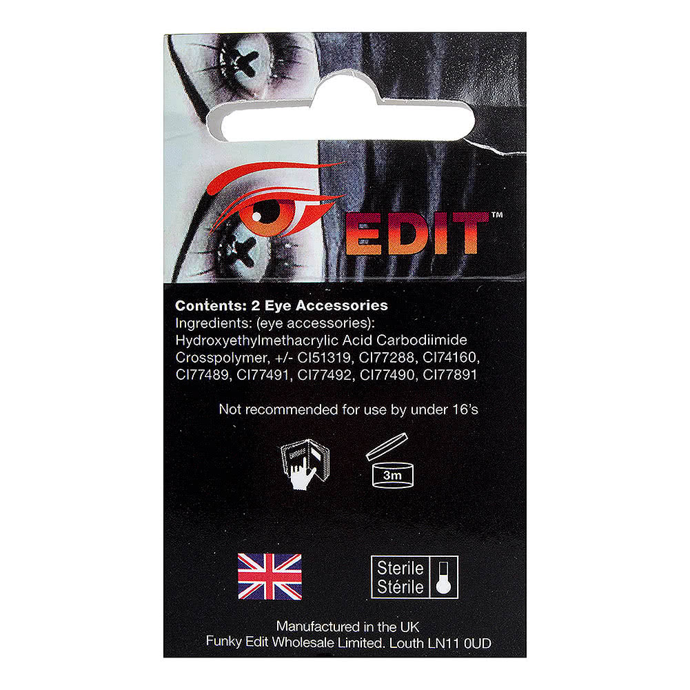 EDIT 90 Day Coloured Contact Lenses (Red)