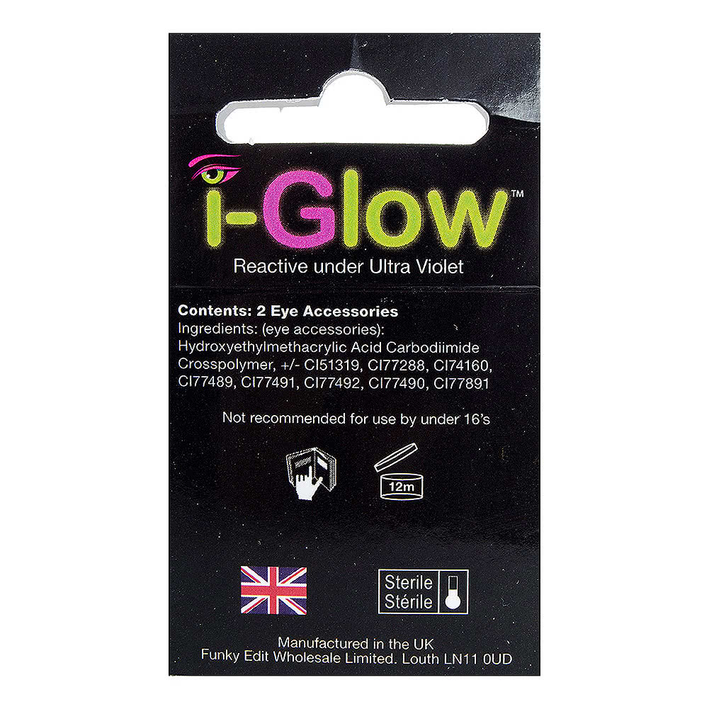 EDIT 90 Day UV Coloured Contact Lenses (i-Glow Pink)