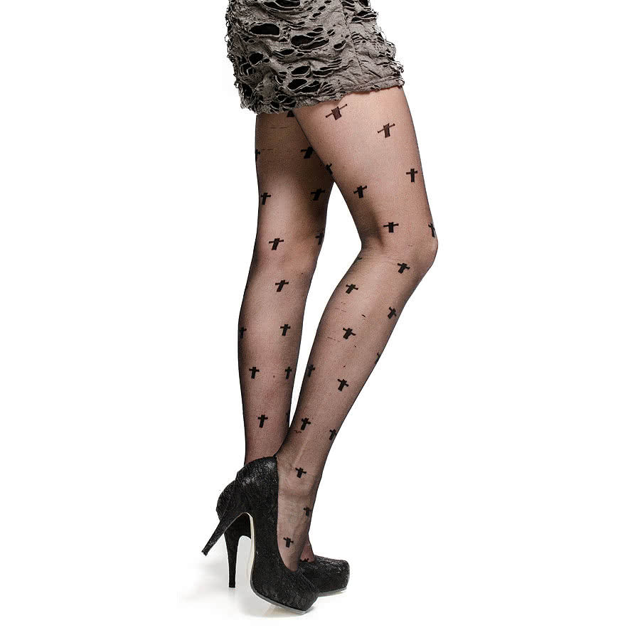 Pamela Mann Cross Tights (Black)