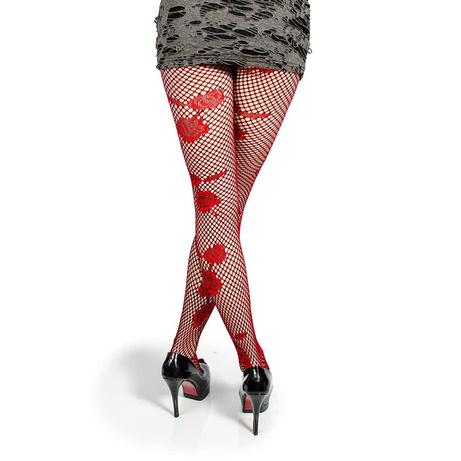 Pamela Mann Roses Tights (Red)