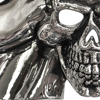 Rock Rebel Skull & Bow Belt Buckle (Silver)