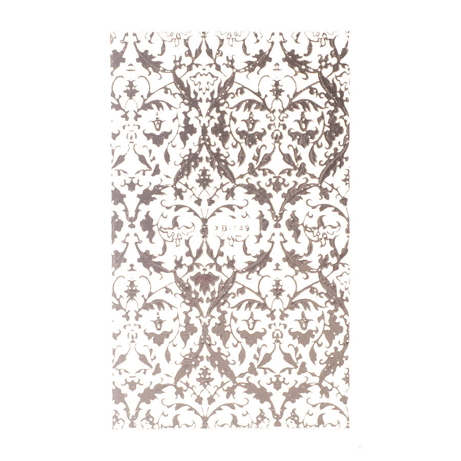 Nail Art Sheets XB-149 Filigree (Silver)