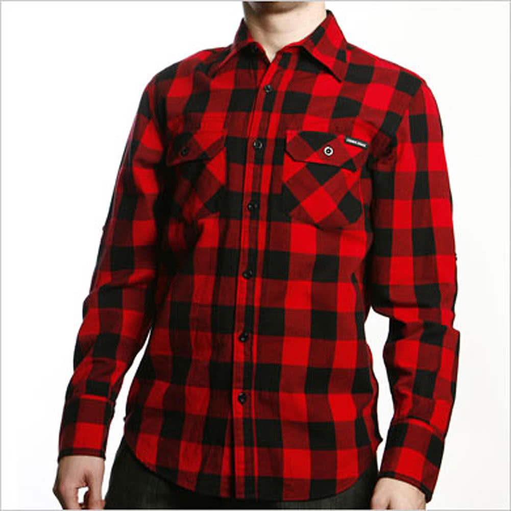 Criminal Damage Jack Checker Print Shirt (Black/Red)
