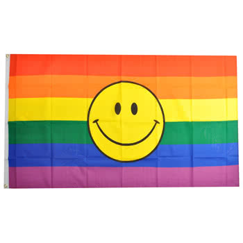 Blue Banana Rainbow Pride Flag