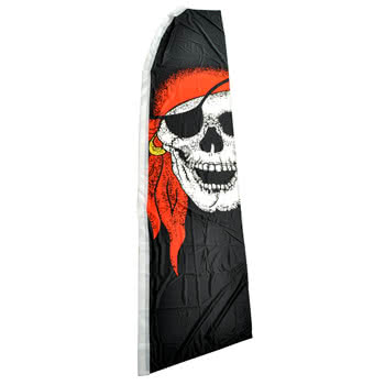 Blue Banana Large Pirate Bandana Swooper Flag